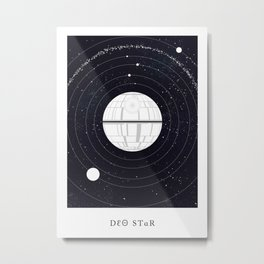Phonetic Star Metal Print