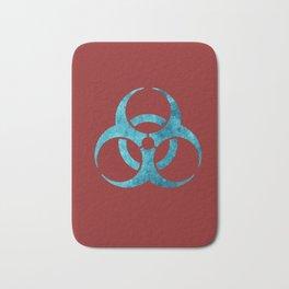 Blue Biohazard Symbol Bath Mat