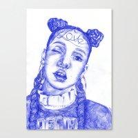 fka twigs Canvas Prints featuring FKA twigs by Bethany Mannion