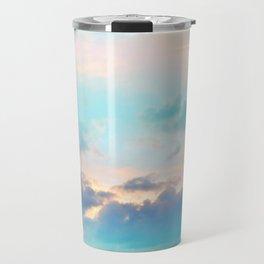Unicorn Pastel Clouds #4 #decor #art #society6 Travel Mug