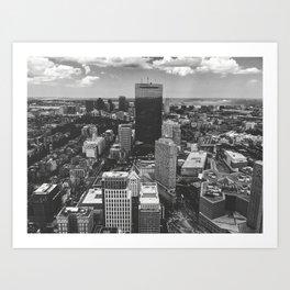 Boston citytown Art Print