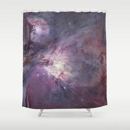 The Orion Nebula Messier 42 diffuse nebula in constellation Orion. Shower Curtain