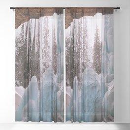 Hanging Lake Spouting Rock at Glenwood Canyon Glenwood Spring Area Colorado. Sheer Curtain