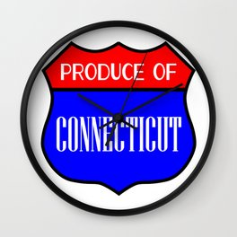Produce Of Connecticut Wall Clock