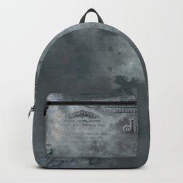 Dark grey letter vintage batic look Backpack