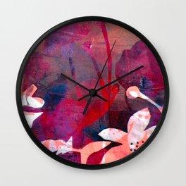 Poppy Pink Love Wall Clock