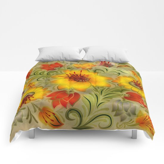Shabby flowers #9 Comforters