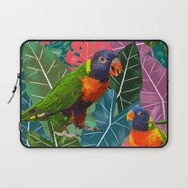 Parrots and Tropical Leaves Laptop Sleeve