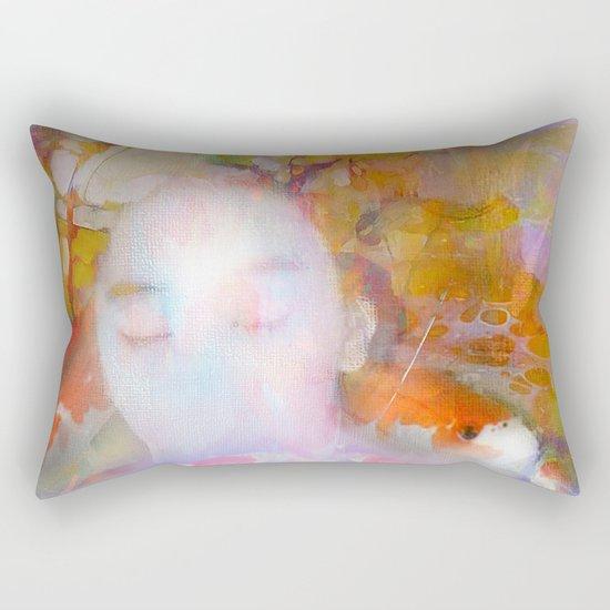 Sleeping with fish Rectangular Pillow