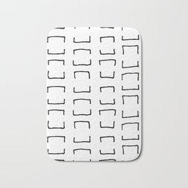 Square Brackets Bath Mat