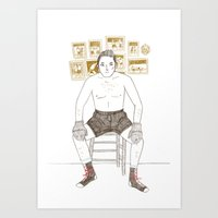 boxer Art Prints featuring Boxer by Katie Turner