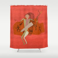 hunting Shower Curtains featuring Hunting Party by BohemianBound