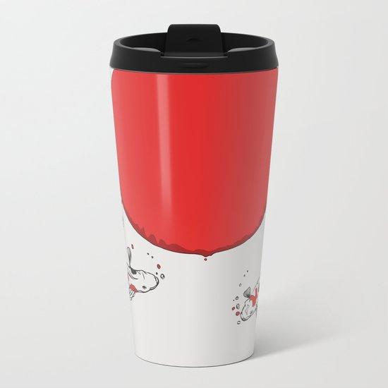 Koi and Sun Metal Travel Mug