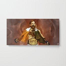"""""""Conor McGregor, (II)"""" Metal Print"""