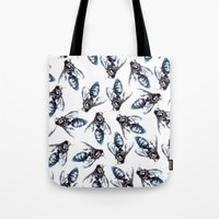 bees Tote Bags featuring Bees. by Phie Hackett