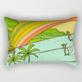 Surf Paradise Rainbow of Happiness Rectangular Pillow