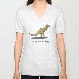 Sexysaurus Rex Unisex V-Neck