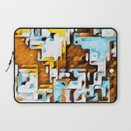 yellow brown and blue Laptop Sleeve