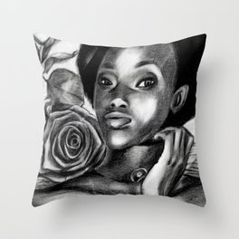 Pretty Blacky Throw Pillow