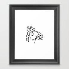 Mr Horse Framed Art Print