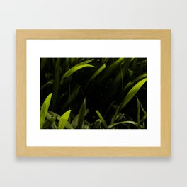 Green Love Framed Art Print
