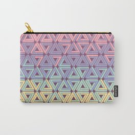 Holographic Candy Geometric Carry-All Pouch