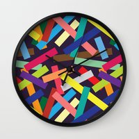 confetti Wall Clocks featuring Confetti by Joe Van Wetering