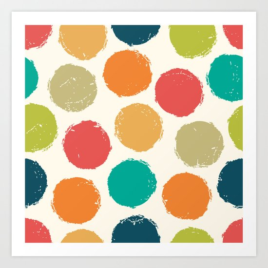RETRO DOTS Art Print