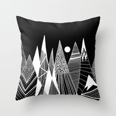 Patterns in the mountains Throw Pillow