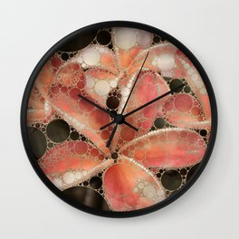 Percolated Tropical Flowers Wall Clock