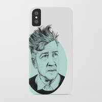 lynch iPhone & iPod Cases featuring David Lynch by Ruth Hannah
