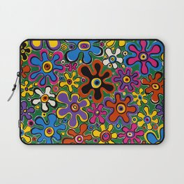 Floral Spin by Nettwork2Design - nettie heron-middleton Laptop Sleeve