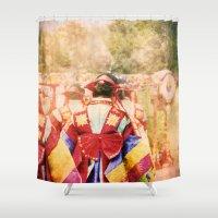"korean Shower Curtains featuring culture Photography ""KOREAN DANCER"" by FarbCafé"