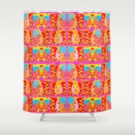 Forms of Love Quilt Shower Curtain