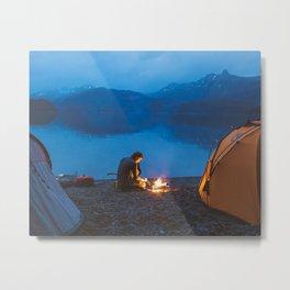 Camp on North Sea Island Metal Print
