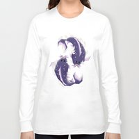 pisces Long Sleeve T-shirts featuring Pisces! by Yetiland