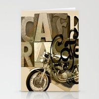 cafe racer Stationery Cards featuring cafe racer by Liviu Antonescu