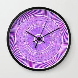 Lilac Round Circles Art Wall Clock