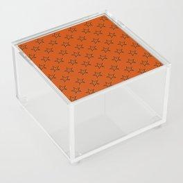 Orange stars pattern Acrylic Box