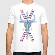 space cow Mens Fitted Tee MEDIUM White