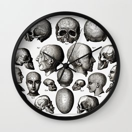 Ratio of Lobes Responsible for the Psychological Type of Person (Phrenology) Wall Clock