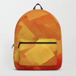 Cubism in orange Backpack