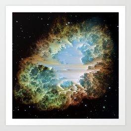 Crab Nebula Art Print