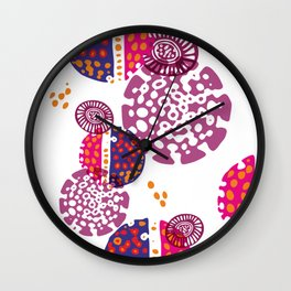 Micro pink and ultra violet composition Wall Clock
