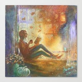 Reading Season Canvas Print