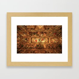 Midnight with Botticelli, Raphael, Michelangelo, & Perugino, Sistine Chapel, Rome Framed Art Print