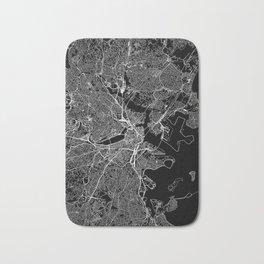 Boston Black Map Bath Mat