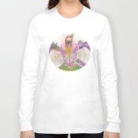olivia joy Long Sleeve T-shirts featuring Joy by CrismanArt
