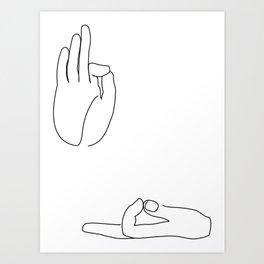 Buddha Hands Art Print
