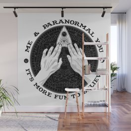 Me & Paranormal You - James Roper Design - Ouija B&W (black lettering) Wall Mural